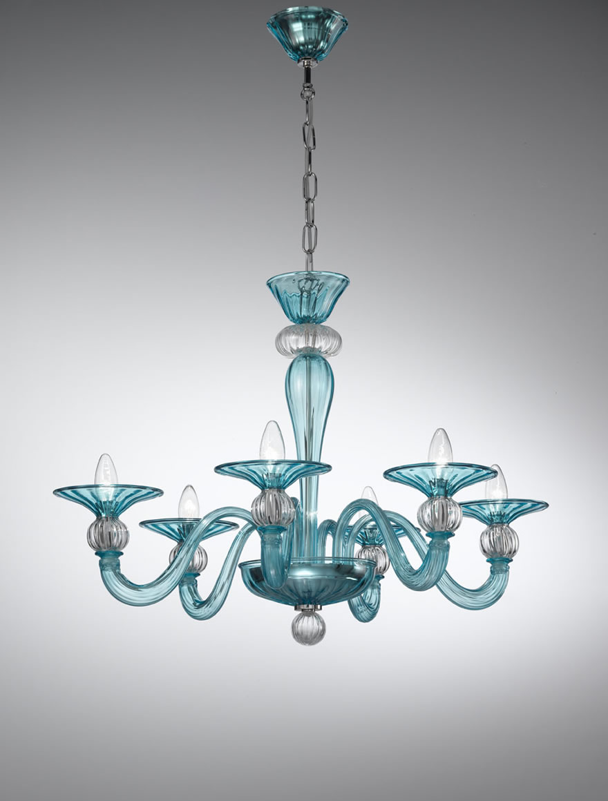 sports shoes 56f48 226a7 Murano Coloured-glass Chandelier - 1154 | Vetrilamp